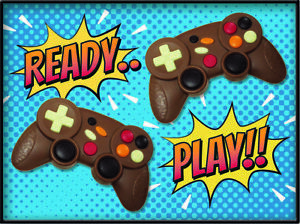 Novelty Twin Pack Milk Chocolate Games Controllers PS4 / Xbox