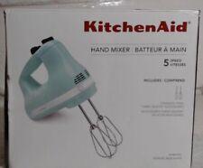 NEW KitchenAid KHM512IC 5-Speed Ultra Power Hand Mixer, Ice Blue $89.99