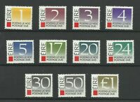 Eire 1988 SgD35-D45 Set of Postage Dues, Unmounted Mint {AVC-151}
