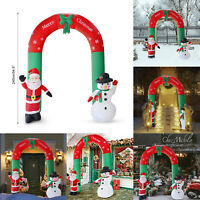 Weihnachten Dekoration 2.4M Bogen Weihnachtsmann Schneemann Dekor Außen Geschäft