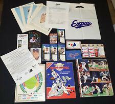 VINTAGE - MONTREAL EXPOS MLB BASEBALL COLLECTIBLES LOT (49) PHOTOS, TICKET, ETC