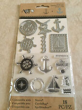 Momenta Art-C Stamp & Die Set Nautical Clear Sailing 25893 NEW