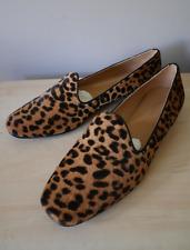 BNWB J&M DAVIDSON Leopard Print Pony Hair Loafers EU38 UK5