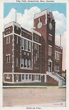 Hôtel de Ville JONQUIERES City Hall Quebec Canada 1915-30 Valentine-Black Co.