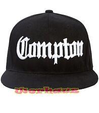Compton Snapback Hat Baseball Cap Black