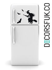 Witch & Bats Fridge sticker vinyl- A4 - art decor/ wall decor/ kitchen sticker