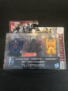 Transformers Optimus Prime Steelbane Bumblebee Tiny Turbo Changers AGES 6+
