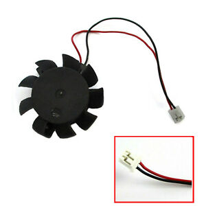 VGA Video Card Fan Replacement 37mm 2Pin for ASUS ATI NVIDIA 12V 0.1A T124010DL
