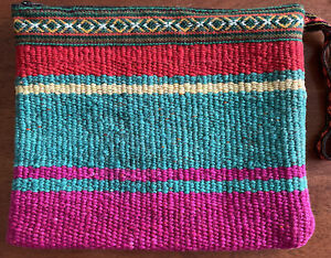 Hand Made Peruivan Clutch / Cosmetic Bag 9x11""