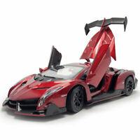 Lamborghini Veneno 1:24 Die Cast Modellauto Spielzeugauto Sammler Geschenk Rot