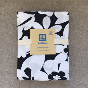 NEW Pottery Barn teen Bold Bloom Duvet Cover Twin Black White Floral