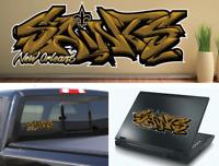 New Orleans Saints Graffiti Vinyl Decal 8x3