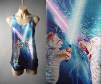 Cat Kitty Lightsaber Star Wars Space Galaxy Graphic Tank Top 173 mv Shirt S M L