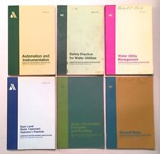 American Water Works Association AWWA 6 Softcover Manuals Water Supply Practices