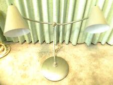 Vtg Mid Century All Metal  Multi Adjustable Double Gooseneck  Table / Desk Lamp