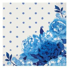 Pioneer Woman Blue Floral Paper Napkins 20 Count 2 Ply New In Package A17