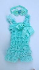 wholesale 5 Baby Girl Lace Posh Petti Ruffle Rompers girl romper girl headband