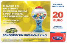 RICARICA CELLULARI TIM RICARICA & VINCI GIALLA 20 EURO GIU 2013