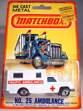 """Matchbox No.41C/25 Ambulance white body """"Code Red"""" issue in blisterpack"""