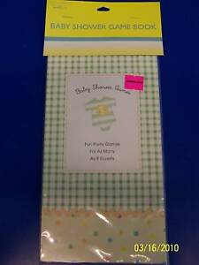 Baby Clothes Polka Dot Green Check Party Baby Shower Game Book for 8 people