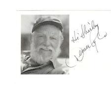 Denver Pyle, Uncle Jesse, Dukes of Hazzard, Signed Postcard, dec 1997 JSA