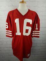 RARE 1988 NFL 49ers Joe Montana Authentic Game Jersey Sz 48 Sand Knit USA - XL