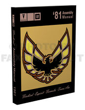 1981 Firebird and Trans Am Assembly Manual inc Turbo Pontiac Factory useful 1982