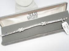 Designer NOLAN MILLER New In Box Chanel Set Princess Cut Clear Crystal Bracelet