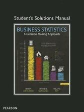 Student Solutions Manual for Business Statistics by Patrick W. Shannon,...