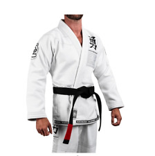 Jiujitsu Uniform Hayabusa Goorudo3 Gold Weave BJJ GI Brazilian Genuine White
