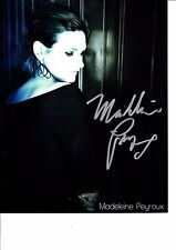 MADELEINE PEYROUX Hand Signed Photo CARD AMERICAN JAZZ AND BLUES SINGER