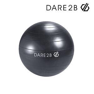Dare 2B Unisex 55cm Fitness Ball Ebony Grey Workout Home Equipment Yoga Pilates