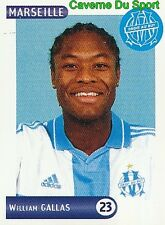 142 WILLIAM GALLAS OLYMPIQUE MARSEILLE OM VIGNETTE STICKER FOOT 2001 PANINI