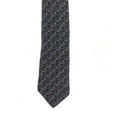 Vintage BILL BLASS Black Label Men Silk Neck Tie Abstract Geometric Neckwear