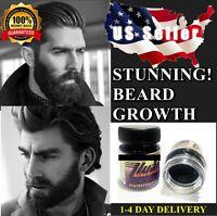 ❤️US SELLER FACIAL HAIR BEARD GROWTH CREAM FAST GROW MUSTACHE SIDEBURNS EYEBROW