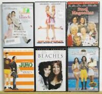 6 ROMANCE MOVIES Chick Flicks DVDs Midler Field Parton more Lot H260 FREE US S/H