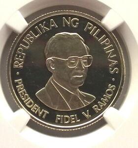 Philippines 1996 Fidel Ramos 2000 Pesos PCGS Gold Coin,Rare!