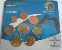 Griechenland KMS Kursmünzensatz 2011 Special Olympics Stier