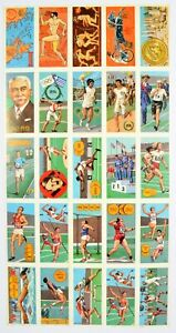 Goodies Limited, Olympics, Trade cards, Complete set x24 * Rare Uncut Sheet *