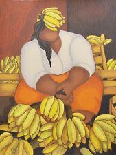 """BERTHA HORTA """"Bananas"""" Hand Signed Limited Edition Serigraph Art"""