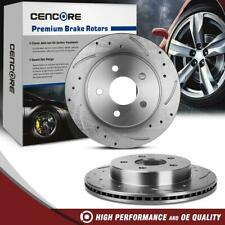 Rear LH RH 2 Drilled Slotted Brake Rotors For Chevrolet Pontiac 1993-1997
