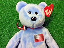 """NEW Retired Ty Beanie Baby """"America"""" USA Red Cross Plush Toy MWMT Free Shipping"""