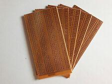 5x Lochrasterplatine 100x50 mm |  Punktstreifenraster | Einseitig | Hartpapier