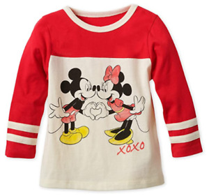 DISNEY MICKEY & MINNIE MOUSE LONG SLEEVE T SHIRT/TOP - New