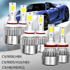 9006/HB4 9005 H11/H9/H8 980W LED Headlight High Low Beam Combo Kit 6500K White