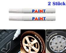 101934 2x Blanco Neumáticos Marcador Permanente Larga Duración Ölbasis Perno