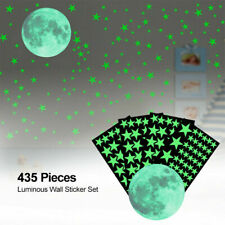 435PCS Glow In The Dark Stars Moon Dot Luminous Planet Space Wall Stickers Decal