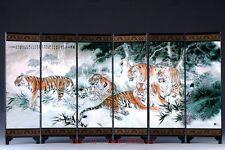 Good Chinese Lacquerware Handwork Painting Screen PF011