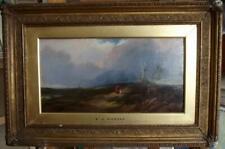 EDMUND JOHN NIEMANN 1813-1876 Antique Landscape Oil Painting HOMEWARD BOUND