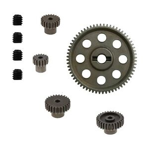 5x Metal Spur Differential Gear 64T Motor Pinion Cogs Set for HSP 1/10 RC Cars